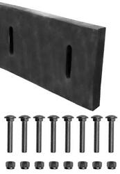 Rubber Cutting Edge Blade And Bolts 90l X10h X1.5w - For Fisher 5532 - 8 Slot