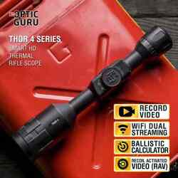 Atn Thor 4 384 2-8x Thermal Scope Hd Video Rec Smooth Zoom Wi-fi Streaming