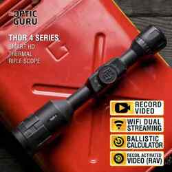 Atn Thor 4 384 4.5-18x Thermal Scope Hd Video Rec Smooth Zoom Wi-fi Streaming