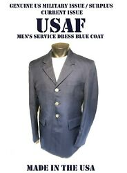 Menand039s Size 41l Usaf Coat Service Dress Blue Us Military Air Force Issue Jacket