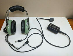 David Clark Aviation Headset Microphone And Adapter Model H7030 P/n 12510g-01
