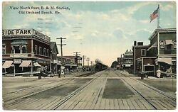 Seaside Park Coca Cola Postcard Bandm Station Old Orchard Beach Maine Antique And03923