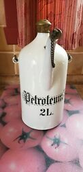 Antique 1900's Petroleum 2l Oil Lamp Gas Bucket Can Germany French