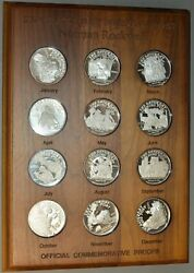 1988 Norman Rockwell Saturday Evening Post 12 2 Oz .999 Silver Official Proofs