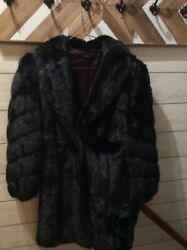 Vintage Women's Faux Mink Fur Coat Made in USA Size SmallMedium
