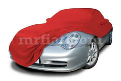 For Porsche 911 996 Red Indoor Fabric Car Cover Mirror Pockets Aerokit 98-04 New