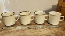 Four Sunmarc Pantry Collection Stoneware Japan Coffee Mugs Mint Mint
