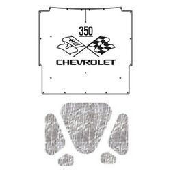 Hood Insulation Pad Heat Shield For 1966 Chevrolet A-body With Ceid-350 X-flags