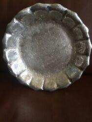 Vintage Silver James W. Tufts Quadruple Plate Basket Server Serving Footed Dishandnbsp