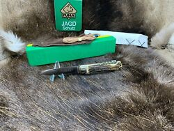 1975 Vintage 943 Jagdmesser Knife With Stag Handles Factory Box