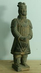 Genghis Khan Antique Statue Figure Terracotta Clay Figurine