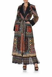 New Camilla Franks Silk Cotton Paved In Paisley Long Military Coat Layby Avail