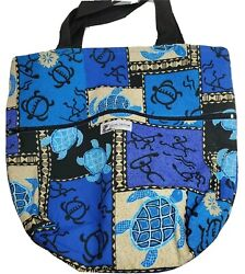 Local Design Hawaii Reversible Open Top Side Zip Tote Bag 13 x 12 x 5 inches $22.49