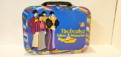 Beatles Yellow Submarine Metal Lunchbox Large Tin Tote 7.5x10x3.25 By Vander
