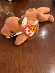 Ty Beanie Baby Collectable - Sly The Fox 8 Inch Style 4115 Pvc