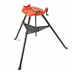 Ridgid 36273 Model 460-6 Portable Tristand Chain Vise, 1/8-inch To 6-inch Pipe