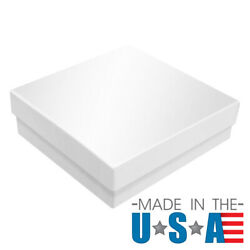 Glossy White Cotton Filled Gift Boxes Jewelry Cardboard Box Lots Of 100200500