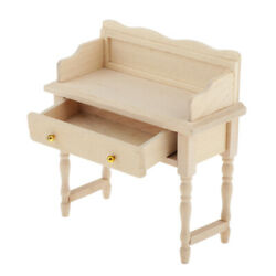 Antique Writing Computer Desk Vanity Table Furniture For 1/12 Dollhouse Accs
