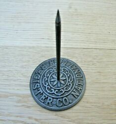 Vintage Cast Iron Paper Spike Memo Note Letter Spike With Holder Receipt Bill