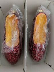 Brand New Christopher Radko The Wizard Of Oz Dorothy's Ruby Red Slippers