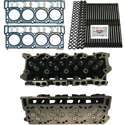 New 18mm Cylinder Heads Studs Oem Head Gaskets - Fits Ford Powerstroke 6.0l