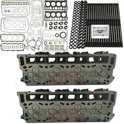 Oringed 18mm Cylinder Heads Studs Mahle Full Gask Set Fits Ford Powerstroke 6.0l