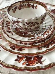 Spode Copeland Indian India Tree 5 Pc Placesetting New Mark Chinoiserie Toile