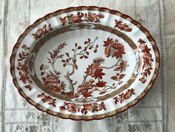 Spode Copeland Indian India Tree Oval Serving Bowl New Mark Chinoiserie Toile 2