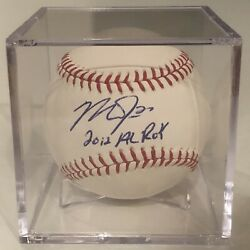Mike Trout Autograph Signed Baseball W/inscription 2012 Al Roy Mlb Authenticated
