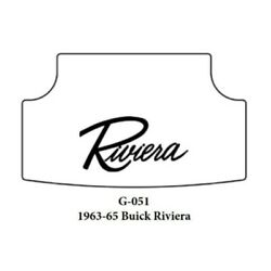 Trunk Floor Mat Cover And Insulation For 1966-1970 Buick Riviera With G-051 Script