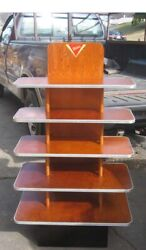 Toms Country Store Display Shelf Peanut Candy Cookie Potato Chip Wood Stand