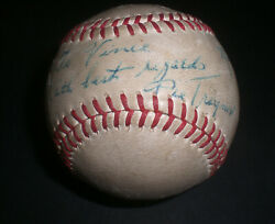Pittsburgh Pirates Pie Traynor Autographed Signed Baseball
