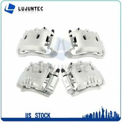 Front + Rear Brake Calipers Pairs For 2004 2005 2006 2007 2008 Dodge Ram 2500