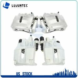 Front + Rear Brake Calipers Pairs For 2006 2007 2008 Lincoln Mark Lt Ford F-150