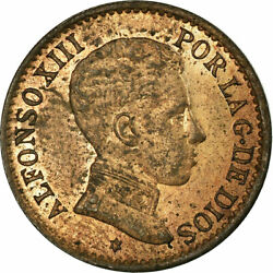 [658000] Coin Spain Alfonso Xiii Centimo 1906 Madrid Ms65-70 Bronze