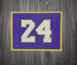Kb Los Angeles Lakers Jersey Style Patch Embroidery Iron On Un Signed