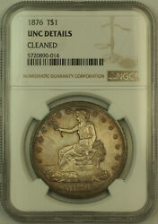 1876 Trade Silver Dollar 1 Ngc Unc Details Kh