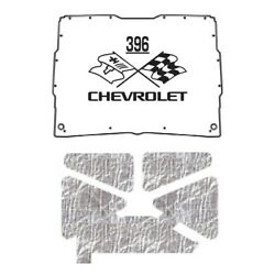 Hood Insulation Pad Heat Shield For 1952-1993 Gmc Sonoma Under Cover W/ceid-396
