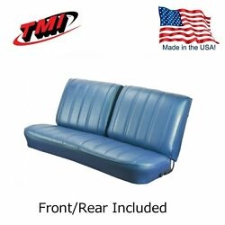 1966 Chevelle Coupe Blue Front/rear Bench Seat Upholstery By Tmi