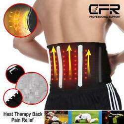 Lumbar Lower Back Support Brace Exercise Belt Sciatica Heating Pain Relief Cfr
