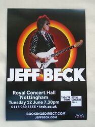 Jeff Beck/the Yardbirds Live In Concert Uk Tour 2018 Promotional Tour Flyer