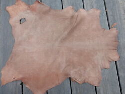 lambskin sheepskin leather hide Light Brown Distressed Antiqued Matte Finish