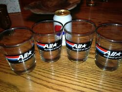 Rare Set Of 4 Amoco All Star Drinking Bar Glasses 1980and039s