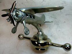 Large Ornate Airplane Radiator Cap Mascot 20s-30s Model T Ford Cadillac Packard