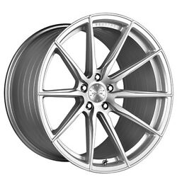 4 21 Staggered Vertini Wheels Rfs1.1 Silver With Brushed Face Rims B8
