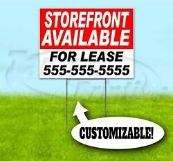 Storefront For Lease Custom 18x24 Yard Sign With Stake Corrugated Bandit Realty
