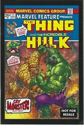 Marvel Feature 11 2005 2nd Print Legends Giveaway Promo Incredible Hulk Thing Vf