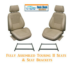 Deluxe Touring Ii Fully Assembled Seats And Brackets 1968 Mustang - Any Color
