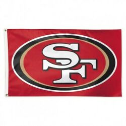 San Francisco 49ers 3x5 Flag Deluxe Banner Nfl Football Single Sided Sports Fan