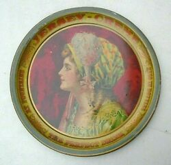 Graphic Old Tin Lithographed Serving Tray Advertising Jersey Creme Soda